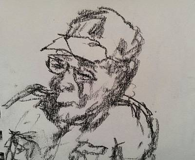 Drawing - Old Man by Steve Jorde