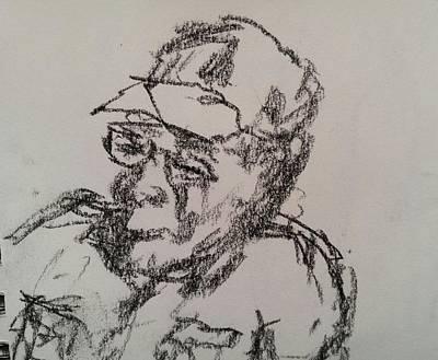 Drawing - Old Man by Steve Jorde