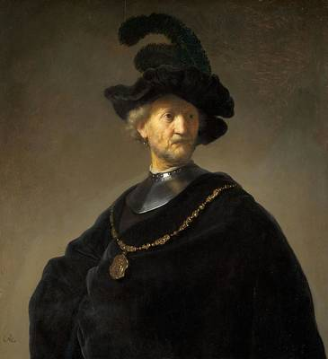 Gold Chain Painting - Old Man With A Gold Chain by Rembrandt van Rijn