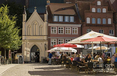 Photograph - Old Market Square Stralsund Germany by David Davies