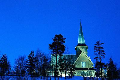 Norwegian Wooden Church Original by Kim Lessel
