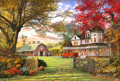 Autumn Landscape Digital Art - Old Pumpkin Farm by Dominic Davison