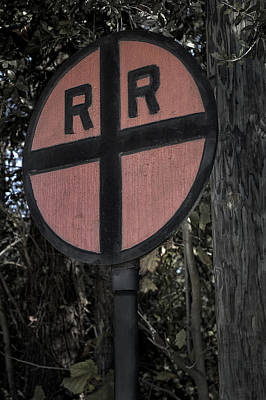 Photograph - Old Railroad Crossing Sign by Phil Cardamone