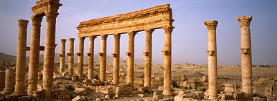 Syria Photograph - Old Ruins On A Landscape, Palmyra, Syria by Panoramic Images