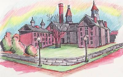Old Salem Jail Original by Paul Meinerth
