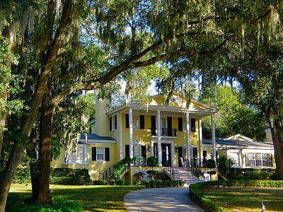 Photograph - Old Southern Home by Denise Mazzocco