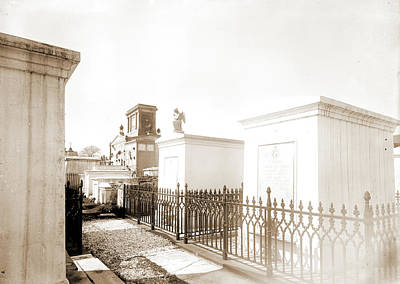New Orleans Cemeteries Drawing - Old St. Louis Cemetery, New Orleans, La, Cemeteries by Litz Collection