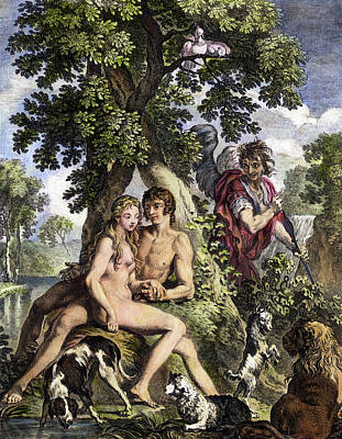 First Couple Painting - Old Testament Adam & Eve by Granger
