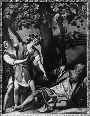 Italian Wine Painting - Old Testament Noah by Granger