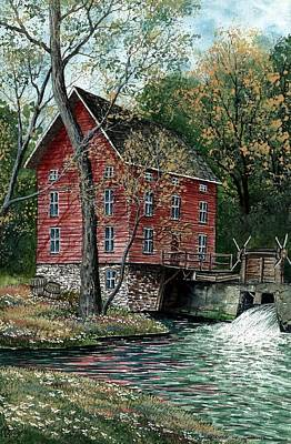 Old Mills Painting - Old Time Mill by Steven Schultz