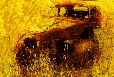 Mixed Media - Old Timer by Jim Vance