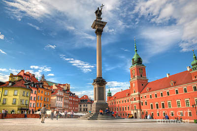 Photograph - Old Town In Warsaw Poland by Michal Bednarek