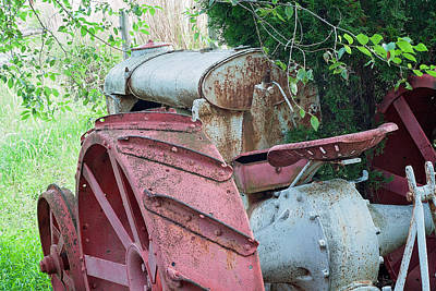 Photograph - Old Tractor by Michael Porchik