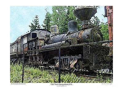 Photograph - Old Train  by Kenneth De Tore
