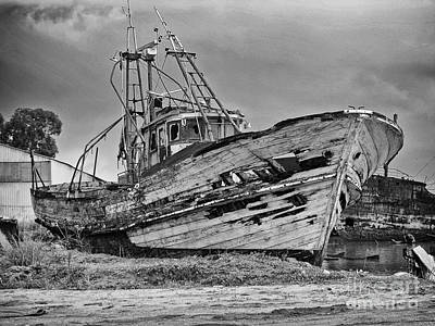 Scrap Photograph - Old Trawler by Jose Elias - Sofia Pereira