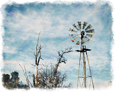 Photograph - Old West Wind Wheel by William Havle