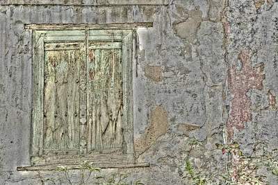 Aging Photograph - Old Window And Wall In The Gullies by Adam Jones