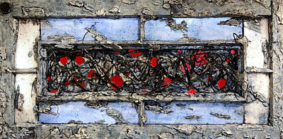 Mixed Media - Old  Window by Christopher Schranck