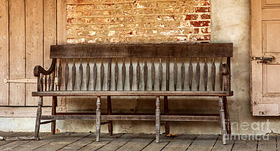 Fine Dining - Old Wood Bench by Iris Richardson