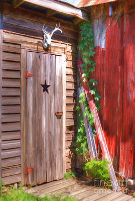 Photograph - Old Wooden Door by Liane Wright