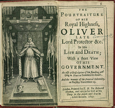Oliver Cromwell Art Print by British Library
