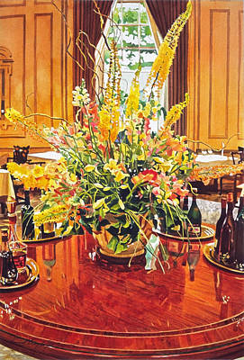 Floral Arrangement Painting - Olympic Grandeur by David Lloyd Glover