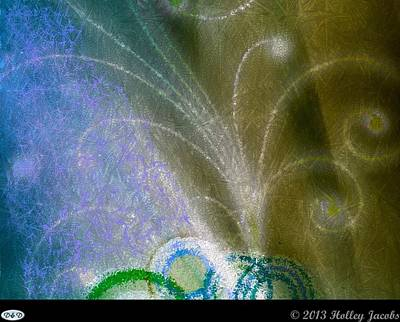 Digital Art - Olympic Symbol Blue by Holley Jacobs