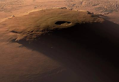 Outer Space Photograph - Olympus Mons by Detlev Van Ravenswaay