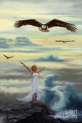 On Eagles Wings Original by Jeanette Sthamann