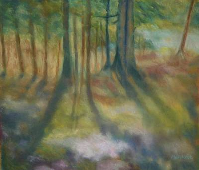 On Mossy Ground II Art Print by Shirley Moravec