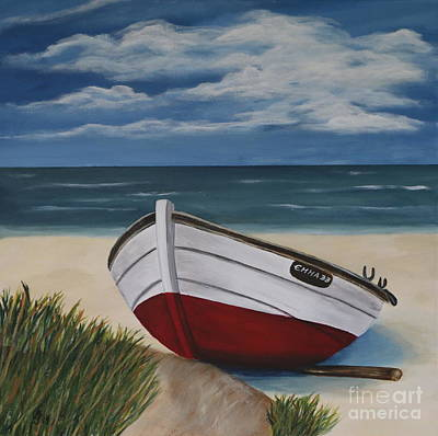 On The Beach Print by Christiane Schulze Art And Photography