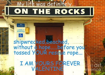 On The Rocks Valentine Art Print by Joe Jake Pratt