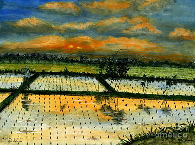 Painting - On The Way To Ubud Iv Bali Indonesia by Melly Terpening