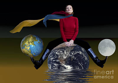 Digital Art - On Top Of The World by Angelika Drake