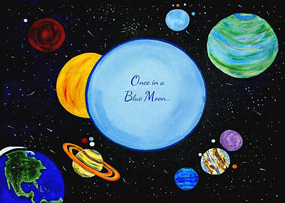 Painting - Once In A Blue Moon by Donna Proctor