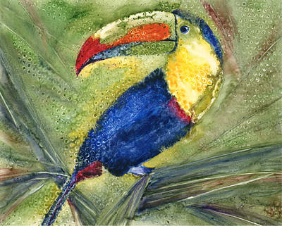 Toucan Painting - One Cant But Toucan by Marsha Elliott