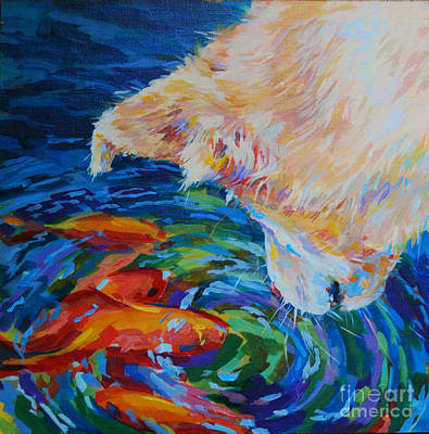 Gold Fish Painting - One Fish Two Fish by Kimberly Santini