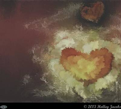 Digital Art - One Heart Old by Holley Jacobs