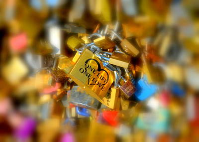 Photograph - One Life One Love Padlock by Carla Parris