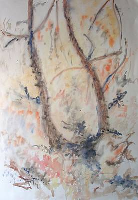 Painting - One Tree Two Stems by Esther Newman-Cohen