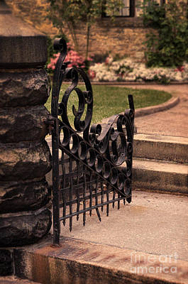 Photograph - Open Iron Gate by Jill Battaglia