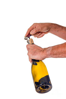 Photograph - Opening Bottle Of Wine by Patricia Hofmeester