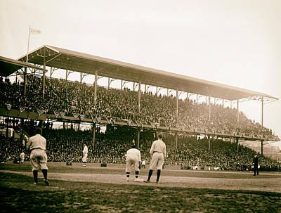 Historical Baseball Photograph - Opening Day At Griffith Stadium - Washington Dc 1922 by Mountain Dreams