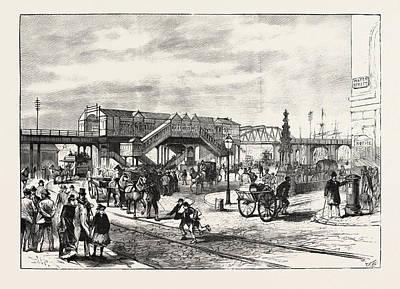 Opening Of The Liverpool Docks Overhead Electric Railway Art Print