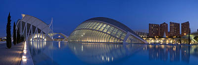 Opera House At The Waterfront, Ciutat Art Print by Panoramic Images