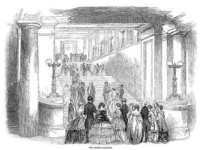 Opera House Opening, 1847 Print by Granger