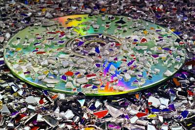 Optical Disk Recycling Art Print