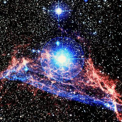 Optical Image Of The Vela Supernova Remnant Art Print
