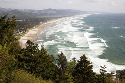 Beach Nobody Photograph - Or, Oregon Coast, Neahkahnie Beach by Jamie and Judy Wild