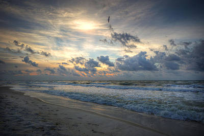 Photograph - Orange Beach Morning Surf by Michael Thomas